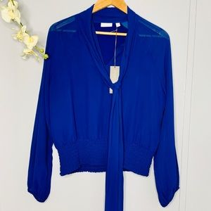 NWT Eva Mendez For NY&CO Blue blouse M